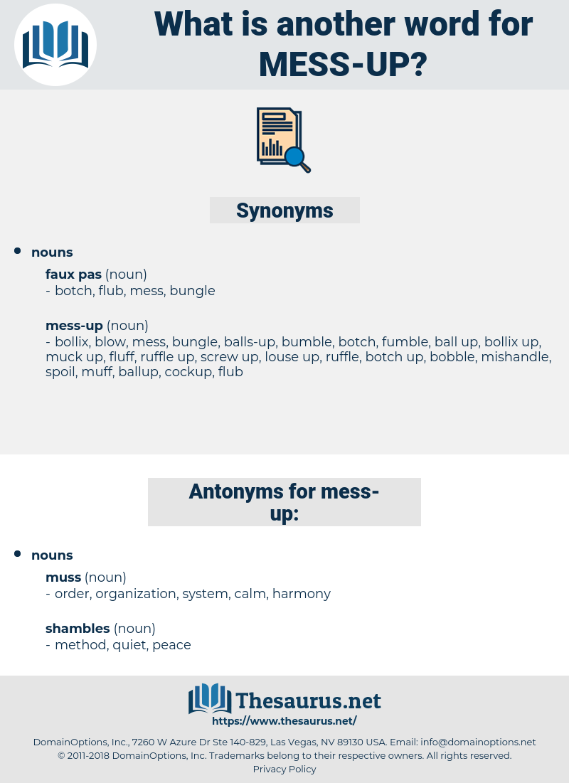 mess-up, synonym mess-up, another word for mess-up, words like mess-up, thesaurus mess-up