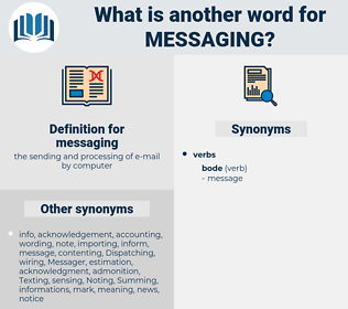 messaging, synonym messaging, another word for messaging, words like messaging, thesaurus messaging