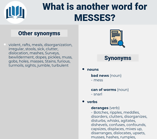 messes, synonym messes, another word for messes, words like messes, thesaurus messes