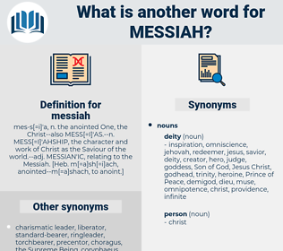 messiah, synonym messiah, another word for messiah, words like messiah, thesaurus messiah