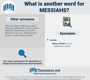 messiahs, synonym messiahs, another word for messiahs, words like messiahs, thesaurus messiahs