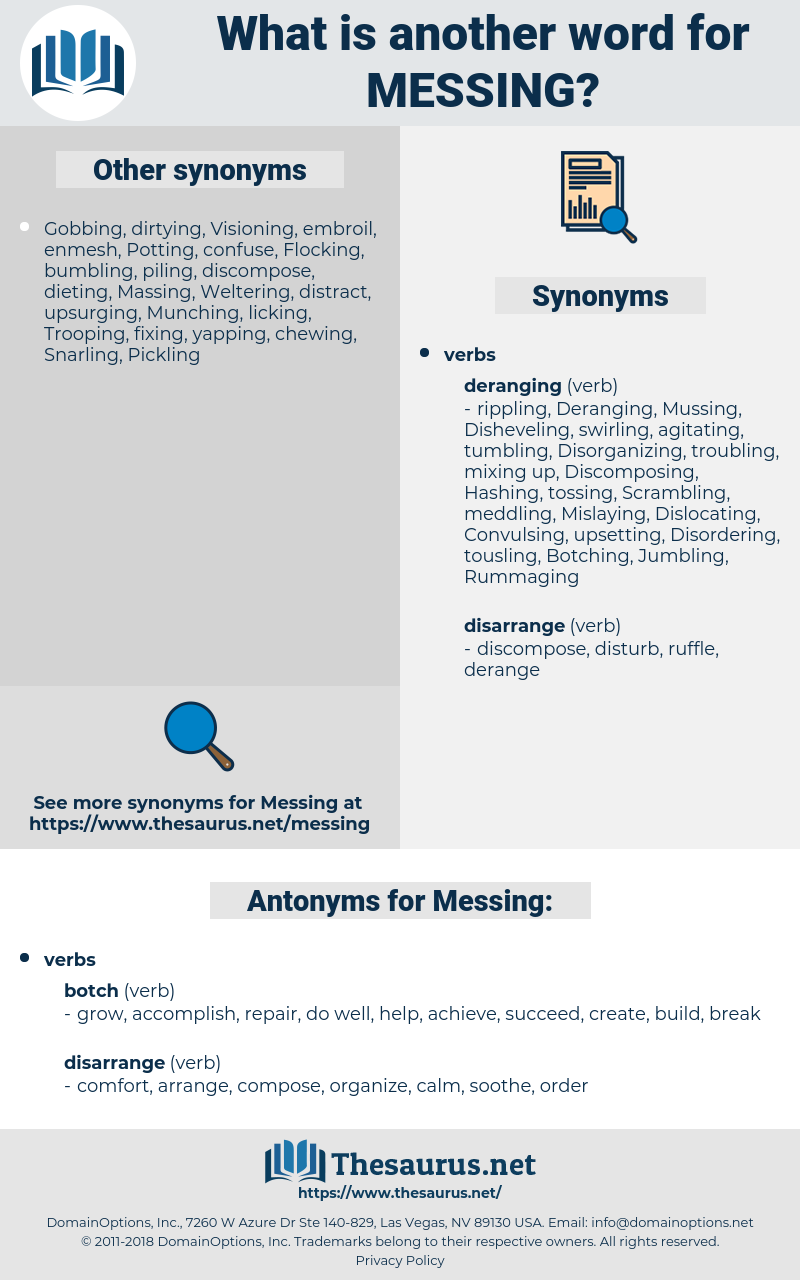 Messing, synonym Messing, another word for Messing, words like Messing, thesaurus Messing