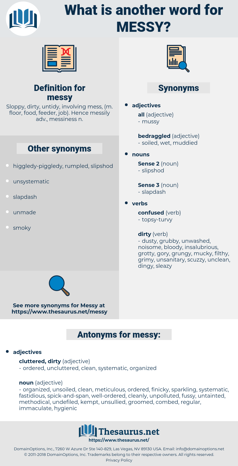 messy, synonym messy, another word for messy, words like messy, thesaurus messy