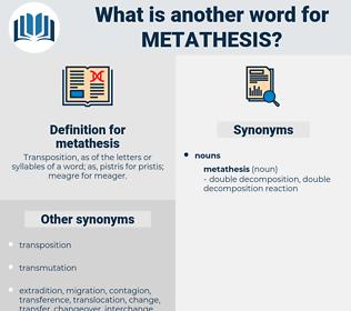 metathesis, synonym metathesis, another word for metathesis, words like metathesis, thesaurus metathesis