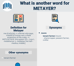 Metayer, synonym Metayer, another word for Metayer, words like Metayer, thesaurus Metayer