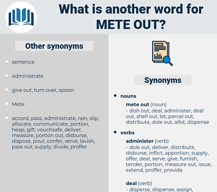 mete out, synonym mete out, another word for mete out, words like mete out, thesaurus mete out