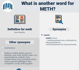 meth, synonym meth, another word for meth, words like meth, thesaurus meth