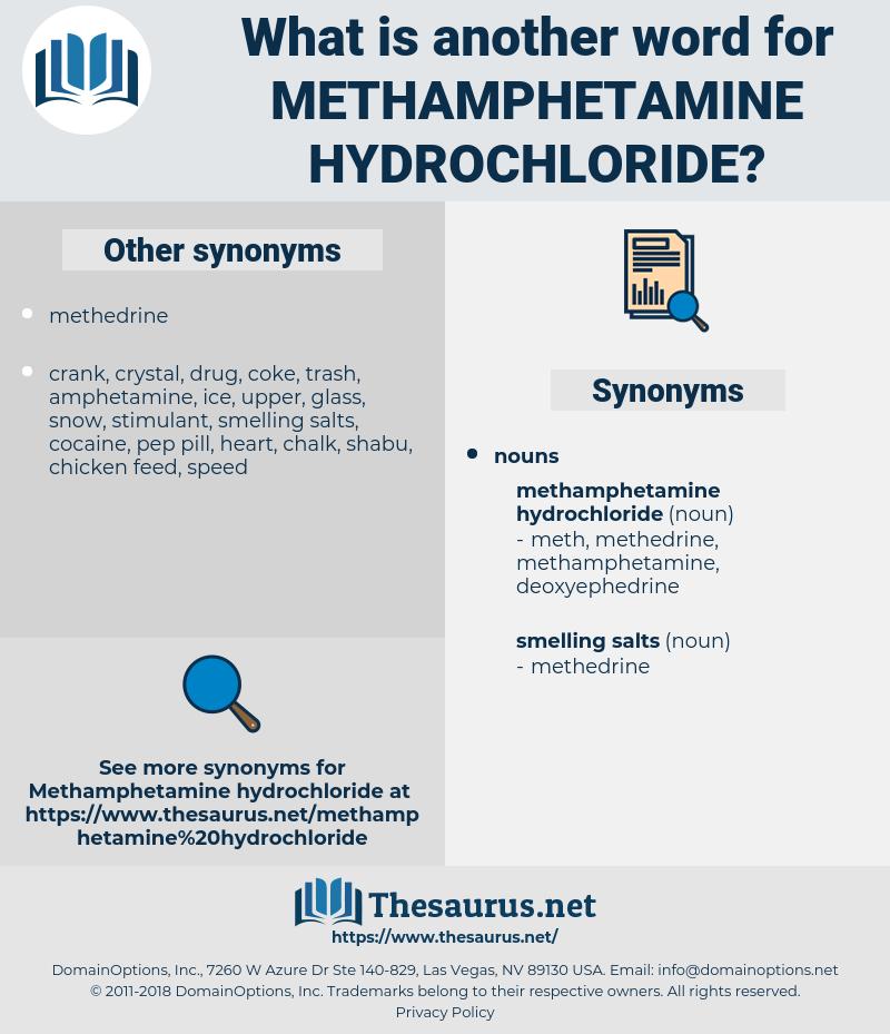 methamphetamine hydrochloride, synonym methamphetamine hydrochloride, another word for methamphetamine hydrochloride, words like methamphetamine hydrochloride, thesaurus methamphetamine hydrochloride