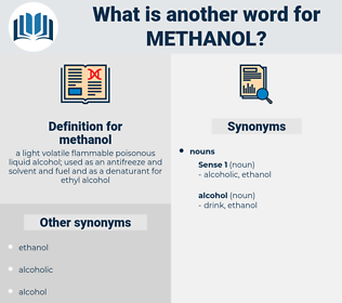 methanol, synonym methanol, another word for methanol, words like methanol, thesaurus methanol