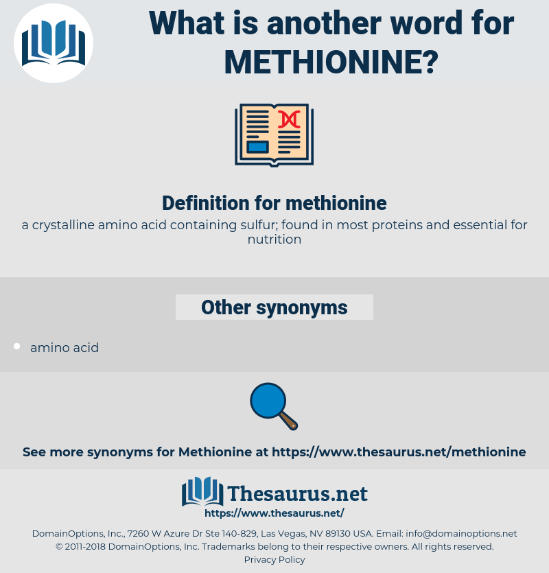 methionine, synonym methionine, another word for methionine, words like methionine, thesaurus methionine