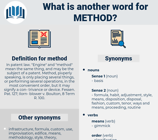 method, synonym method, another word for method, words like method, thesaurus method