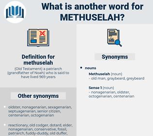 methuselah, synonym methuselah, another word for methuselah, words like methuselah, thesaurus methuselah