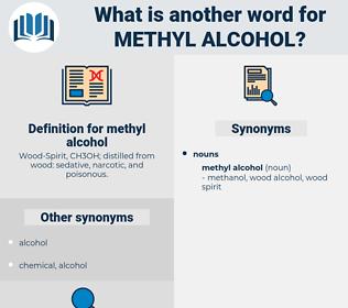 methyl alcohol, synonym methyl alcohol, another word for methyl alcohol, words like methyl alcohol, thesaurus methyl alcohol