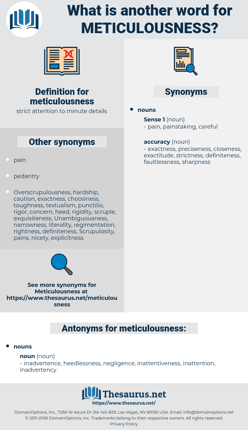 meticulousness, synonym meticulousness, another word for meticulousness, words like meticulousness, thesaurus meticulousness
