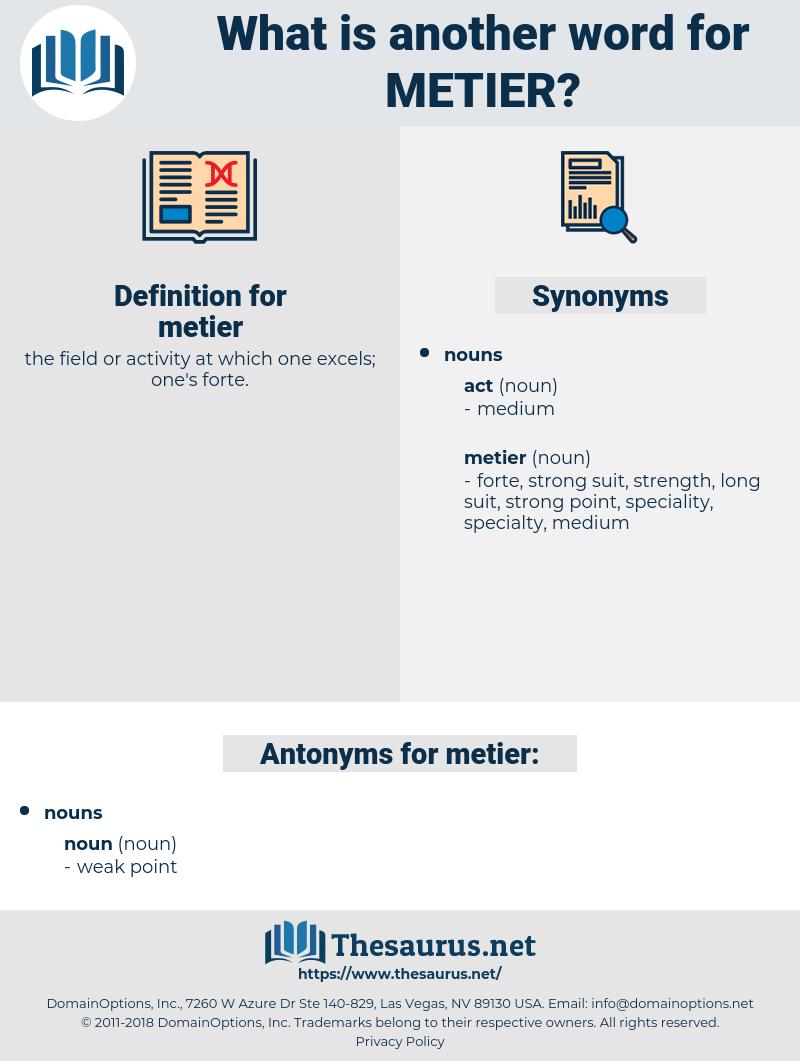 metier, synonym metier, another word for metier, words like metier, thesaurus metier