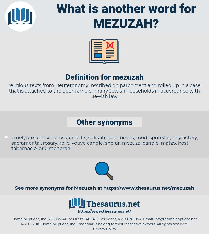mezuzah, synonym mezuzah, another word for mezuzah, words like mezuzah, thesaurus mezuzah