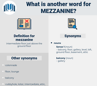 mezzanine, synonym mezzanine, another word for mezzanine, words like mezzanine, thesaurus mezzanine