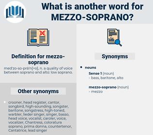 mezzo-soprano, synonym mezzo-soprano, another word for mezzo-soprano, words like mezzo-soprano, thesaurus mezzo-soprano