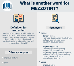 mezzotint, synonym mezzotint, another word for mezzotint, words like mezzotint, thesaurus mezzotint