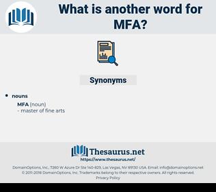 mfa, synonym mfa, another word for mfa, words like mfa, thesaurus mfa