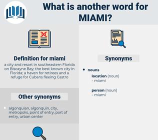 miami, synonym miami, another word for miami, words like miami, thesaurus miami