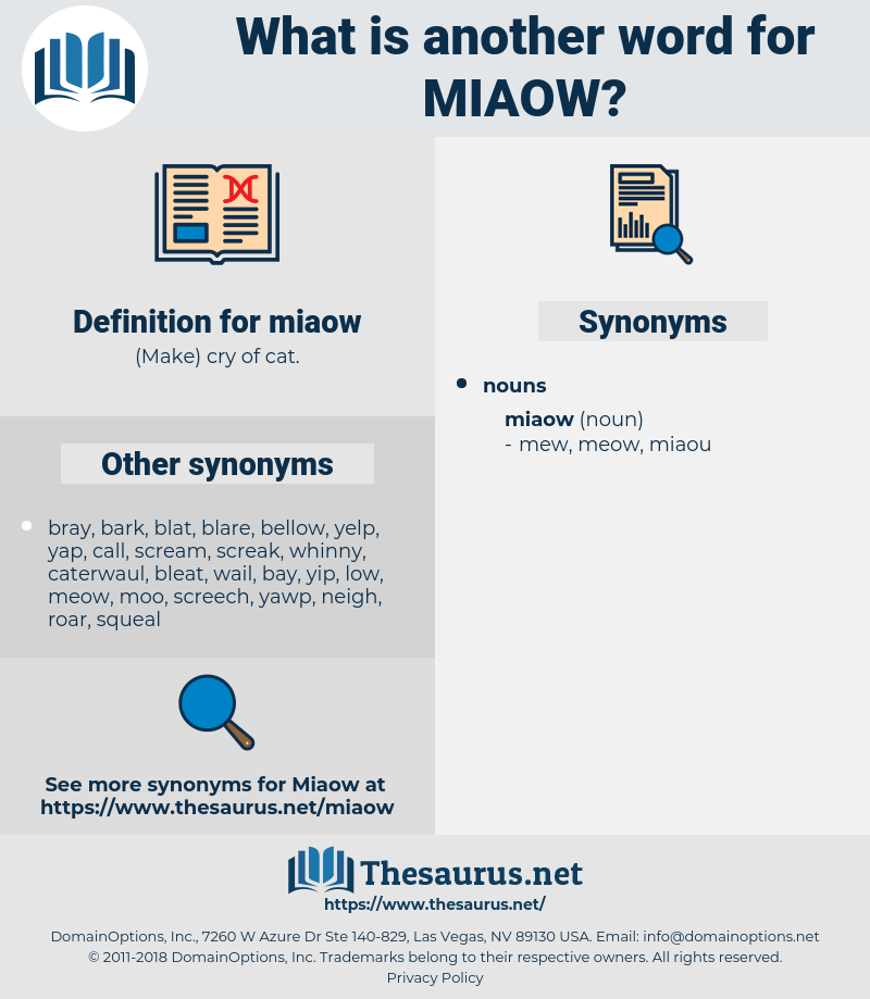 miaow, synonym miaow, another word for miaow, words like miaow, thesaurus miaow