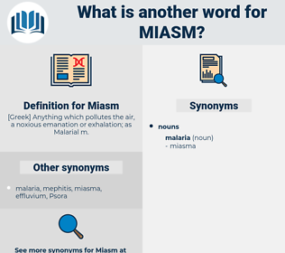 Miasm, synonym Miasm, another word for Miasm, words like Miasm, thesaurus Miasm
