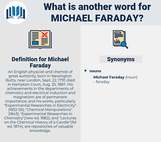 Michael Faraday, synonym Michael Faraday, another word for Michael Faraday, words like Michael Faraday, thesaurus Michael Faraday