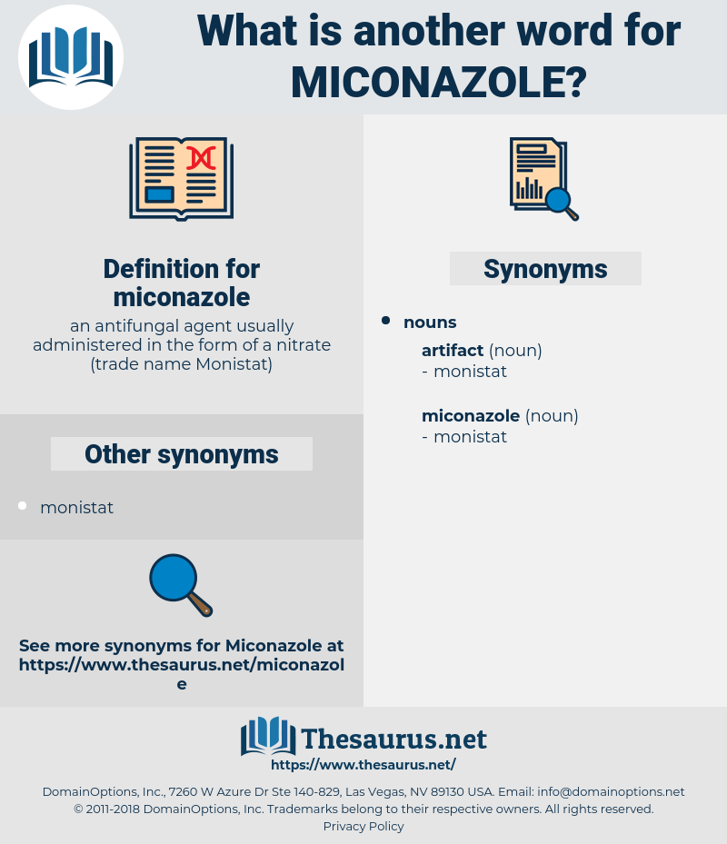 miconazole, synonym miconazole, another word for miconazole, words like miconazole, thesaurus miconazole
