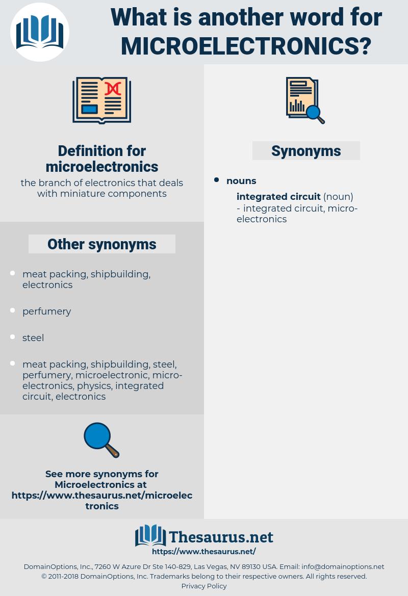 microelectronics, synonym microelectronics, another word for microelectronics, words like microelectronics, thesaurus microelectronics