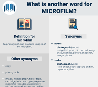 microfilm, synonym microfilm, another word for microfilm, words like microfilm, thesaurus microfilm
