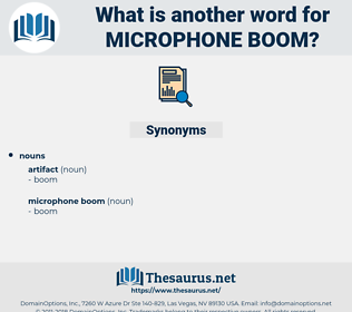 microphone boom, synonym microphone boom, another word for microphone boom, words like microphone boom, thesaurus microphone boom