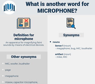 microphone, synonym microphone, another word for microphone, words like microphone, thesaurus microphone