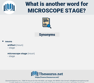microscope stage, synonym microscope stage, another word for microscope stage, words like microscope stage, thesaurus microscope stage
