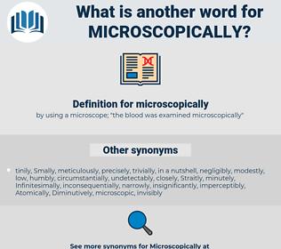 microscopically, synonym microscopically, another word for microscopically, words like microscopically, thesaurus microscopically