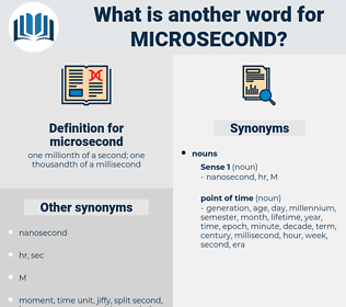 microsecond, synonym microsecond, another word for microsecond, words like microsecond, thesaurus microsecond