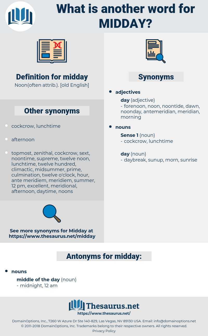midday, synonym midday, another word for midday, words like midday, thesaurus midday