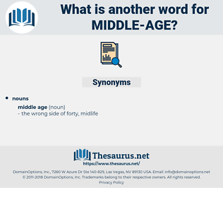 middle age, synonym middle age, another word for middle age, words like middle age, thesaurus middle age