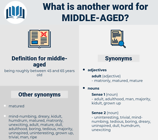 middle-aged, synonym middle-aged, another word for middle-aged, words like middle-aged, thesaurus middle-aged