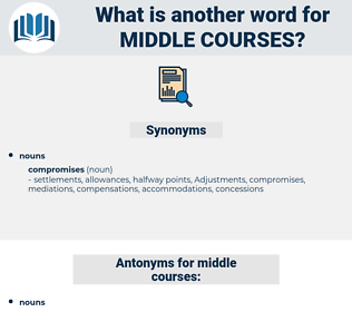 middle courses, synonym middle courses, another word for middle courses, words like middle courses, thesaurus middle courses