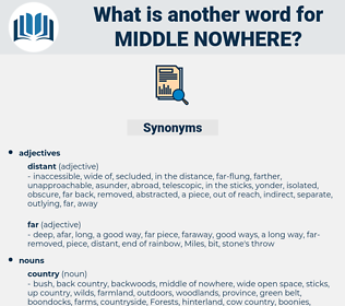 middle nowhere, synonym middle nowhere, another word for middle nowhere, words like middle nowhere, thesaurus middle nowhere