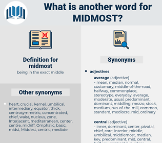 midmost, synonym midmost, another word for midmost, words like midmost, thesaurus midmost