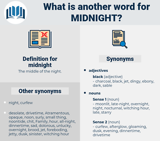 midnight, synonym midnight, another word for midnight, words like midnight, thesaurus midnight