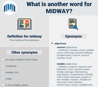 midway, synonym midway, another word for midway, words like midway, thesaurus midway