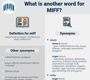 miff, synonym miff, another word for miff, words like miff, thesaurus miff