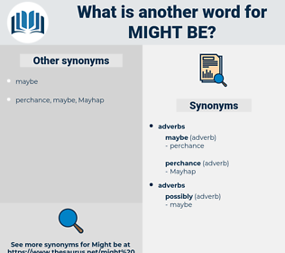 might be, synonym might be, another word for might be, words like might be, thesaurus might be