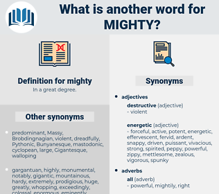 mighty, synonym mighty, another word for mighty, words like mighty, thesaurus mighty