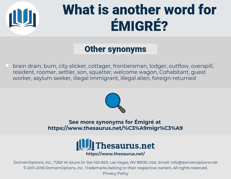 émigré, synonym émigré, another word for émigré, words like émigré, thesaurus émigré