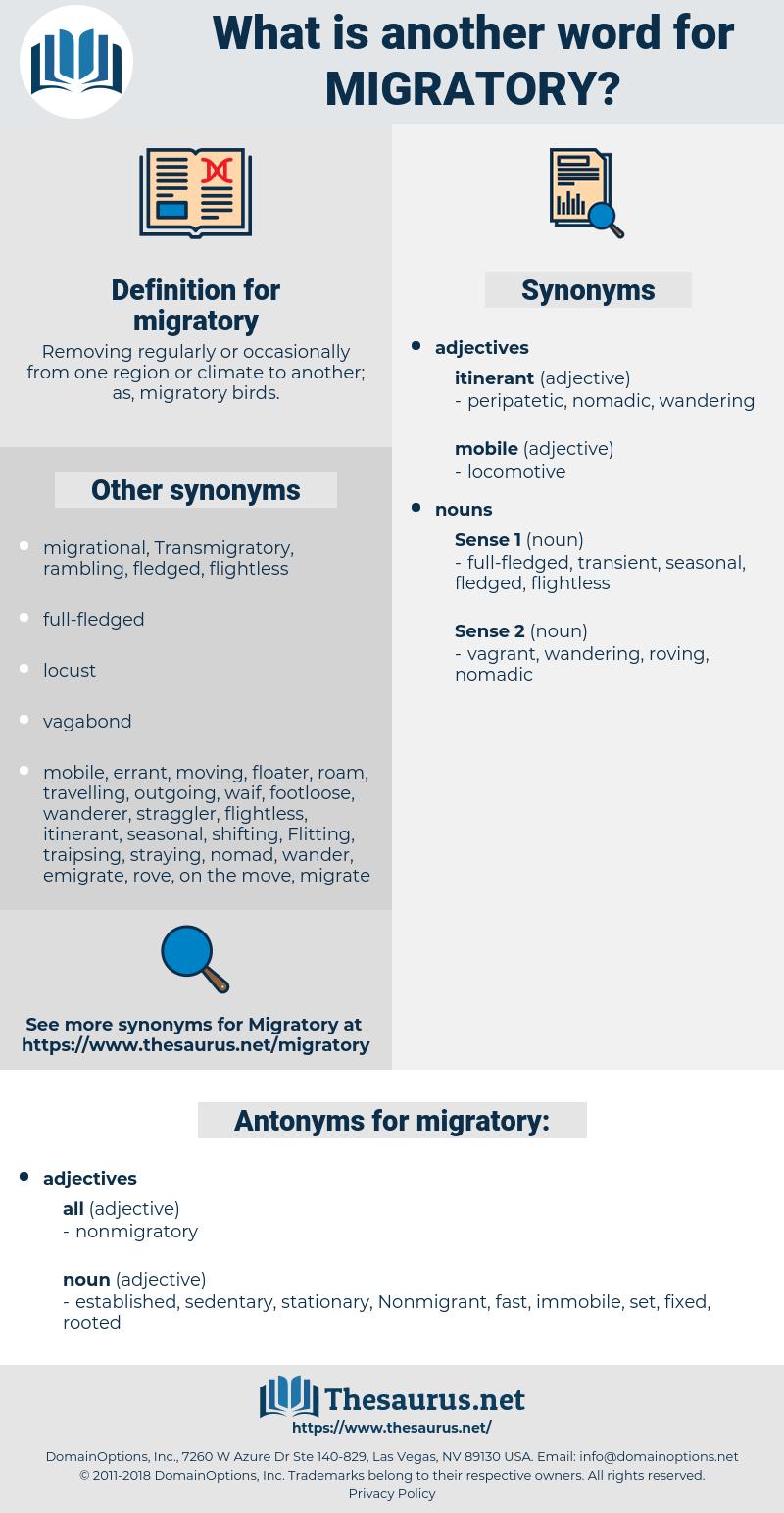 migratory, synonym migratory, another word for migratory, words like migratory, thesaurus migratory
