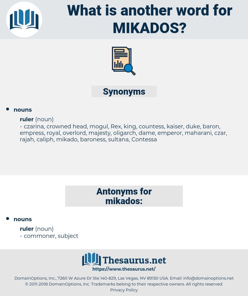 mikados, synonym mikados, another word for mikados, words like mikados, thesaurus mikados